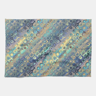 Peacock Feathers Retro Abstract Towel