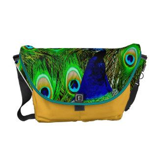peacock feathers rickshaw bag COLOR CHANGE Messenger Bags