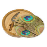 Peacock Feathers Round Cheeseboard