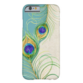 Peacock Feathers Royal Damask Personalized Names Barely There iPhone 6 Case