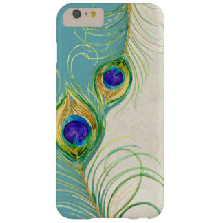 Peacock Feathers Royal Damask Personalized Names Barely There iPhone 6 Plus Case