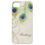 Peacock Feathers Royal Damask Personalized Names iPhone 5 Cases