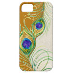 Peacock Feathers Royal Damask Personalized Names iPhone 5 Case