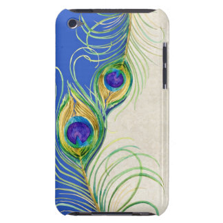 Peacock Feathers Royal Damask Personalized Names Case-Mate iPod Touch Case