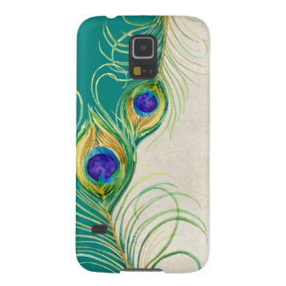 Peacock Feathers Royal Damask Personalized Names Cases For Galaxy S5