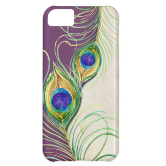Peacock Feathers Royal Damask Personalized Names Cover For iPhone 5C