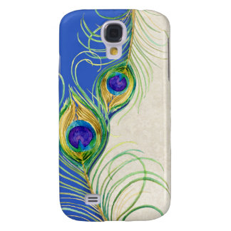 Peacock Feathers Royal Damask Personalized Names Galaxy S4 Case
