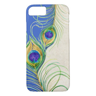 Peacock Feathers Royal Damask Personalized Names iPhone 7 Case