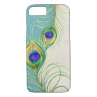 Peacock Feathers Royal Damask Personalized Names iPhone 8/7 Case