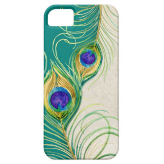 Peacock Feathers Royal Damask Personalized Names iPhone SE/5/5s Case