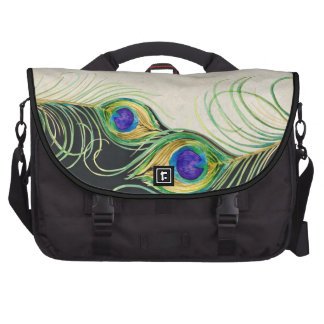 Peacock Feathers Royal Damask Personalized Names Computer Bag