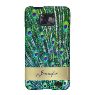 Peacock Feathers Samsung Galaxy Phone Case Samsung Galaxy SII Covers