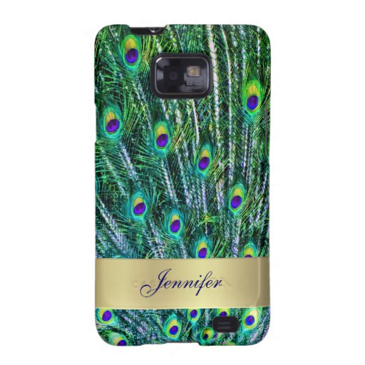 Peacock Feathers Samsung Galaxy Phone Case Samsung Galaxy S Covers