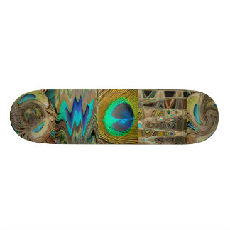 Peacock Feathers Skate Board