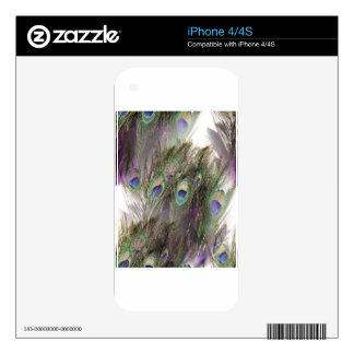 Peacock Feathers Skins For The iPhone 4S
