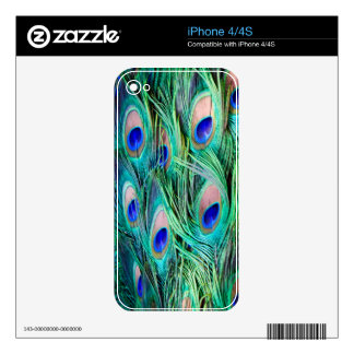Peacock Feathers Decal For The iPhone 4S