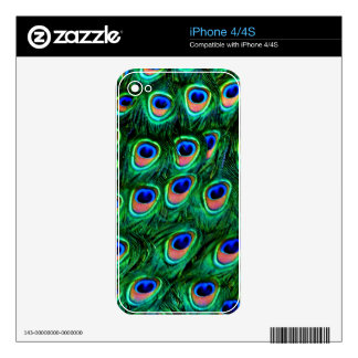 Peacock feathers_ decals for iPhone 4S