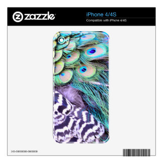Peacock Feathers iPhone 4 Decals