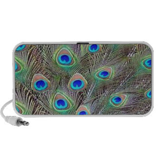 Peacock Feathers Mp3 Speakers