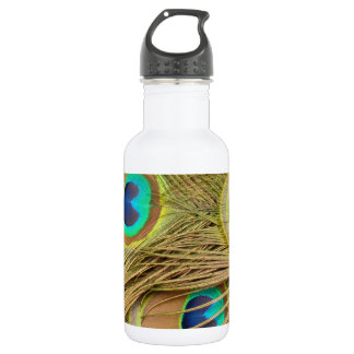 Peacock Feathers Stainless Steel Water Bottle