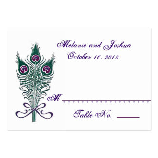 Peacock Feathers Table Place Card Wedding Party Business Cards