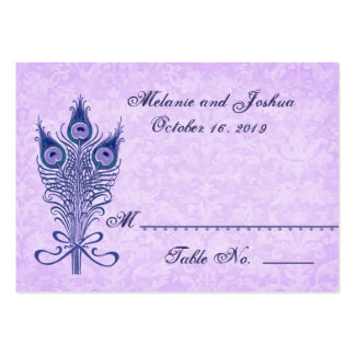 Peacock Feathers Table Place Card Wedding Party Large Business Card