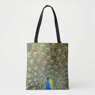 Peacock feathers tail beautiful tote shopping bag