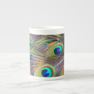 Peacock Feathers Tea Cup