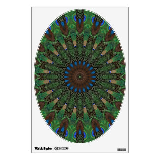Peacock Feathers Toilet Lid Decal