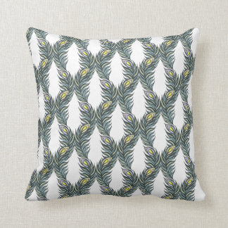 Peacock Feathers V Throw Pillow