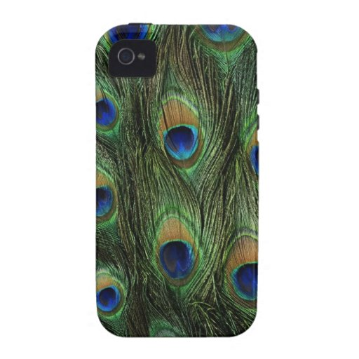 peacock feathers vibe iPhone 4 case