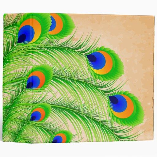 Peacock Feathers Vinyl Binder