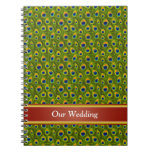 Peacock Feathers Wedding Books Notebooks