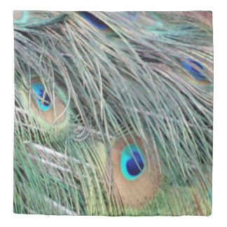 Peacock Feathers With New Growth Duvet Cover