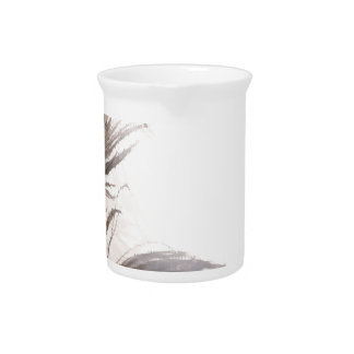 peacock Feathery background Drink Pitcher