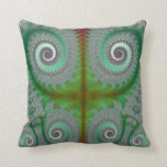 Peacock Fern Unfurling Fractal Pillows