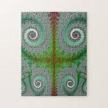 Peacock Fern Unfurling Fractal Puzzle