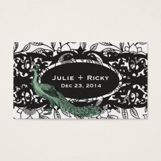 Peacock & Floral Pattern Business Card