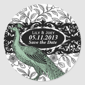Peacock & Floral Pattern Sticker