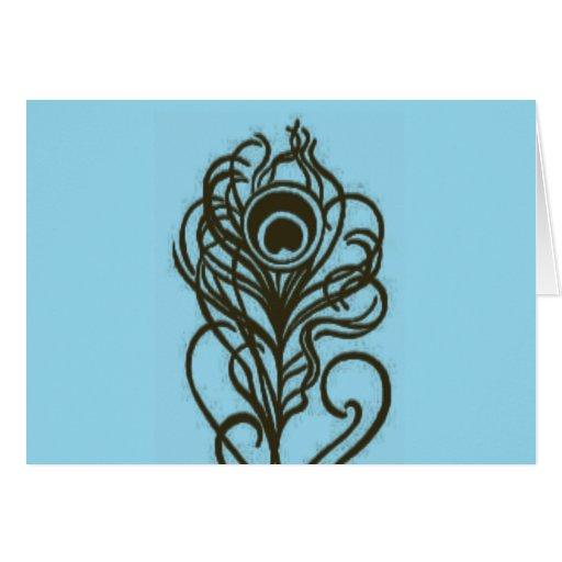 Peacock Flower Greeting Card