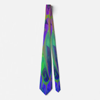 Peacock Flower Neck Tie