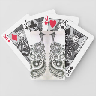 Peacock for cards bicycle poker cards