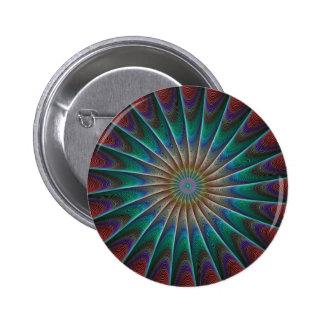 Peacock Fractal Button