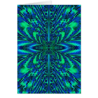 Peacock Fractal Card