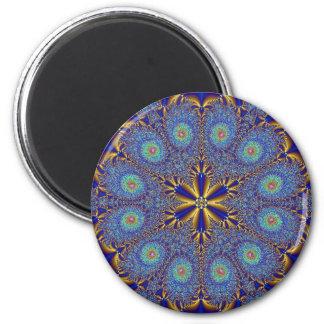Peacock Fractal Design Magnet