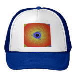 Peacock Fractal Mandala Orange Yellow Hats