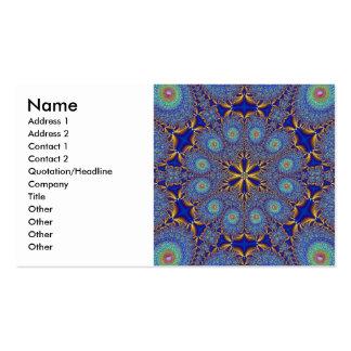 Peacock Fractal Profile Card Business Card