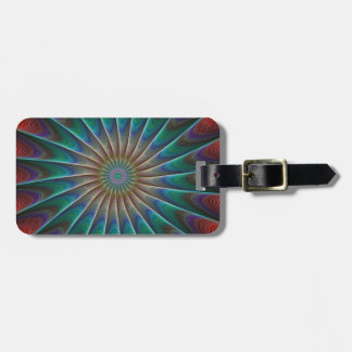 Peacock Fractal Tag For Luggage