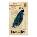 Peacock French Postcards Business Card