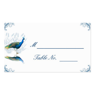 Peacock Garden in Blue and White Place Card Business Card